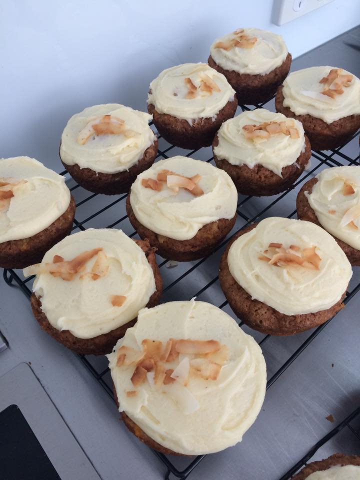 Freshly Baked GF Carrot & Pineapple Cakes!